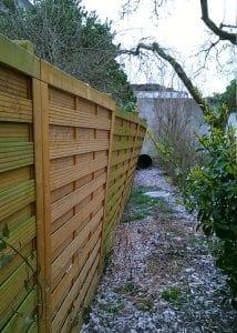 Versicherungsschaden – Zaun nach Sturmschaden (vorher)