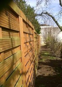 Versicherungsschaden – Zaun nach Sturmschaden (repariert)