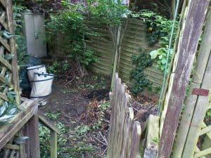 Garten-Entrümpelung (vorher)