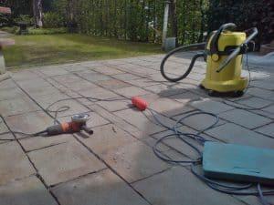 Reparatur Terrasse (vorher)