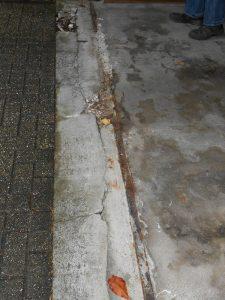 Reparatur Garageneinfahrt (vorher)