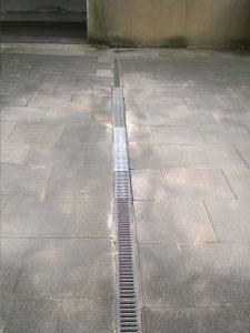 Reparatur Wassereinlauf ACO-Rinne (nachher)