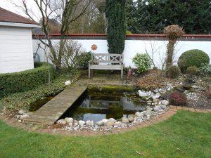 Garten-Teich vorher